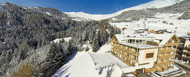 The location of the Natürlich hotel - Winter holidays close to the pistes of Serfaus-Fiss-Ladis.