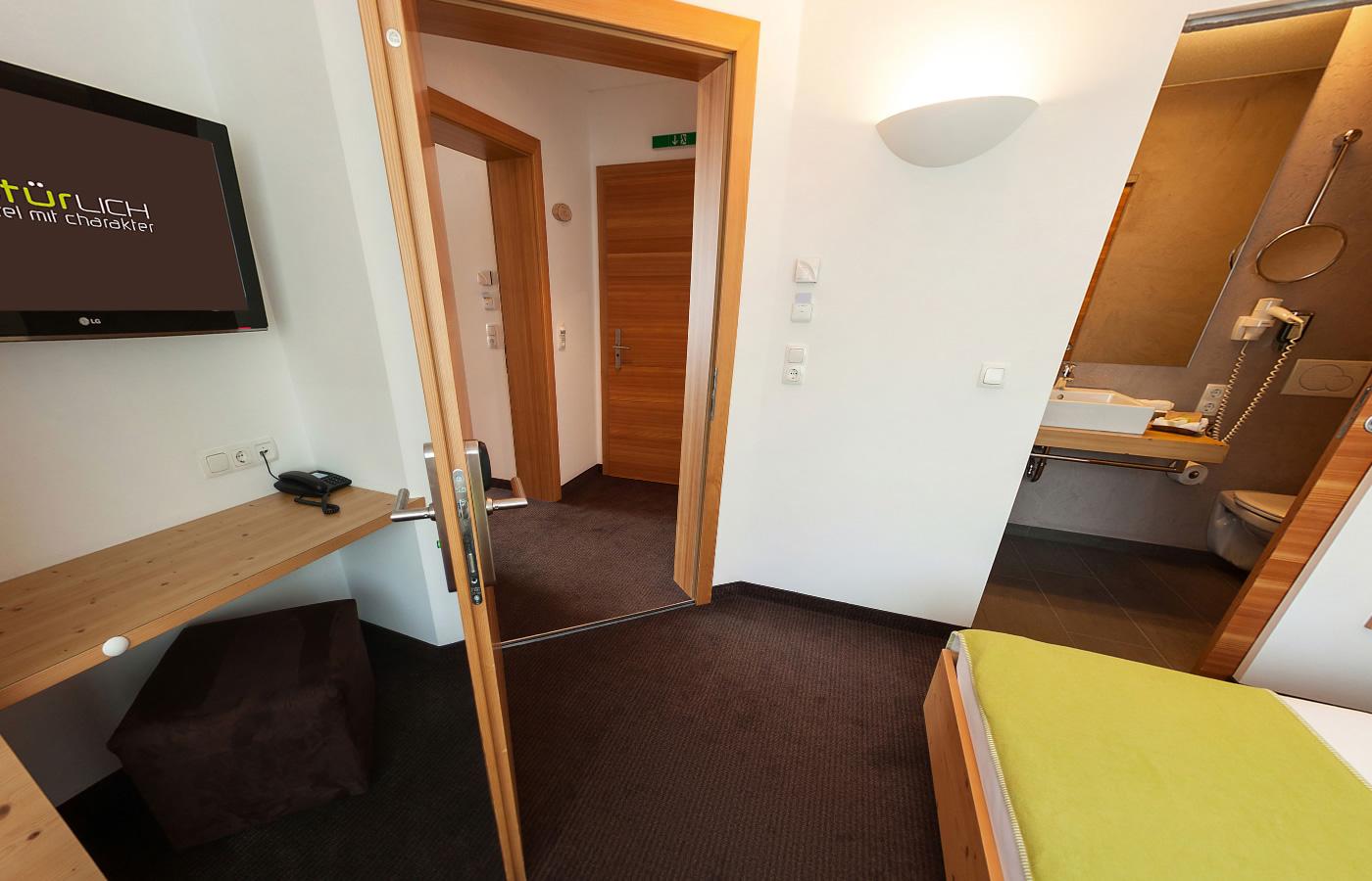 """Ansicht - Doppelzimmer """"Klein aber fein"""" - Urlaub in Tirol - Fiss."""