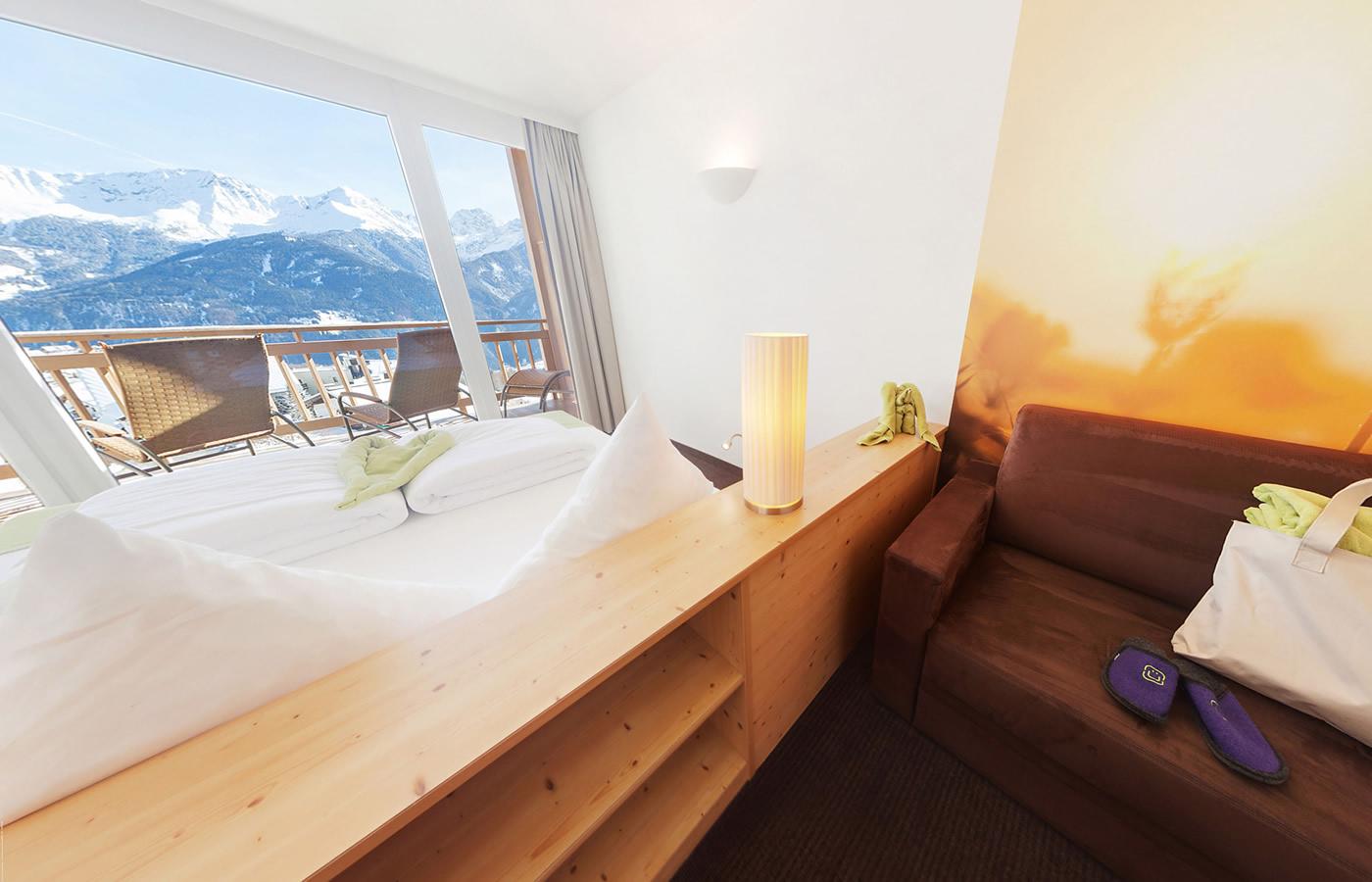 """Suite """"Familienharmonie"""" im Hotel Natürlich in Fiss, Tirol."""