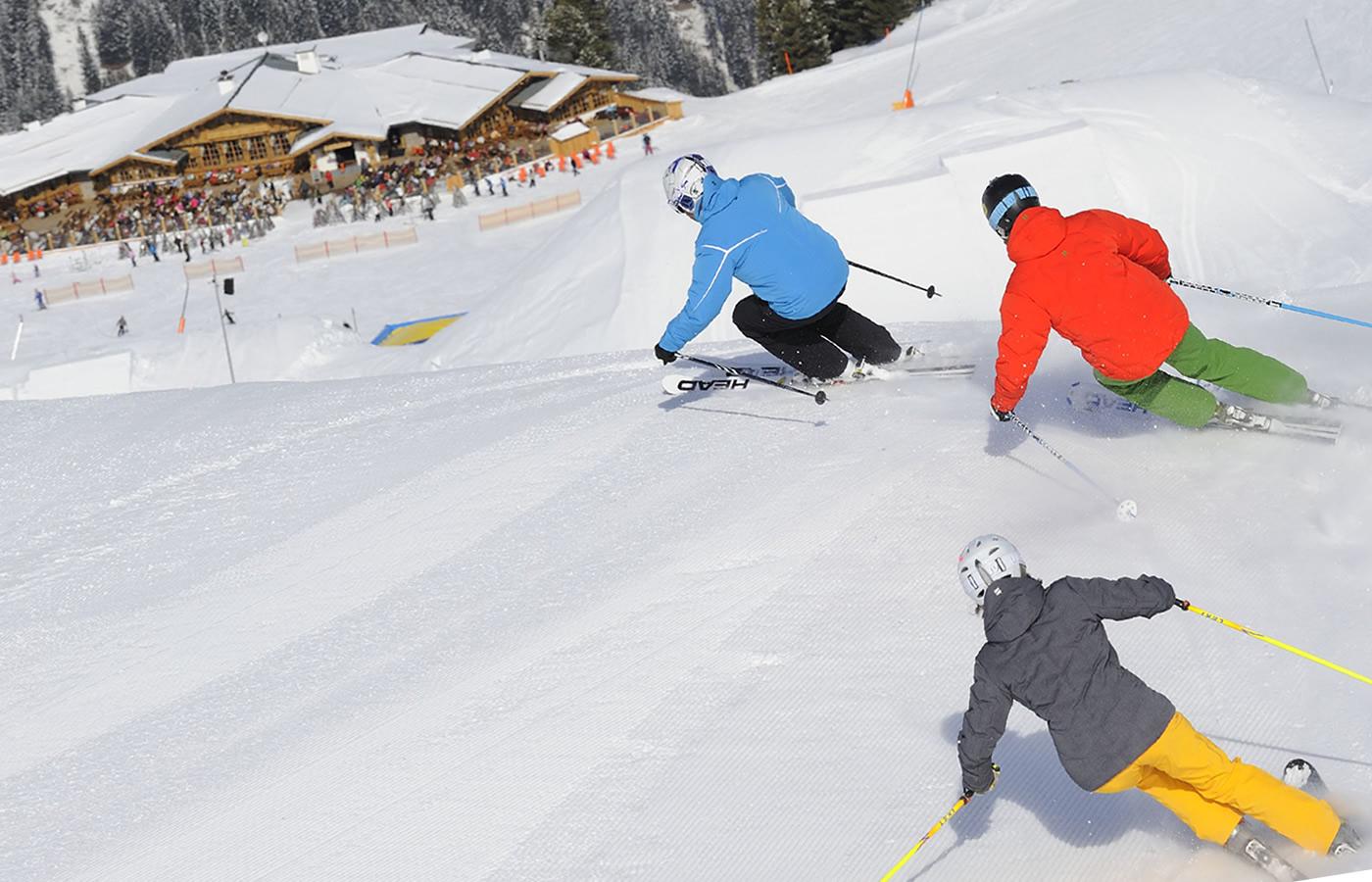Gruppen Ski fahren in Serfaus-Fiss-Ladis - Fiss Nordseite.