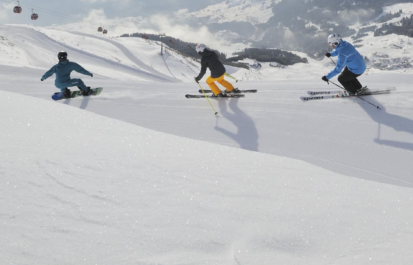 Pistenspaß für Gruppen in Serfaus-Fiss-Ladis. Winter in Tirol.