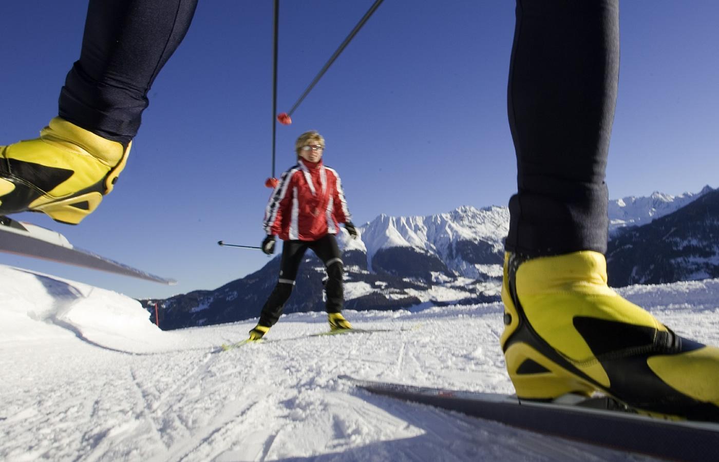 Langlaufen in Serfaus-Fiss-Ladis. Sport-Winter-Urlaubs-Region in Tirol - Österreich